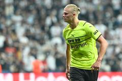 Haaland started his Champions League campaign with a goal versus Besiktas
