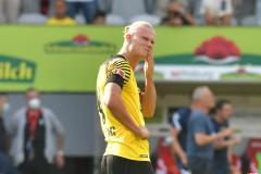 Erling Haaland during Dortmund's defeat to Freiburg in Bundesliga