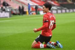 Liverpool attacker Takumi Minamino is on loan at Southampton