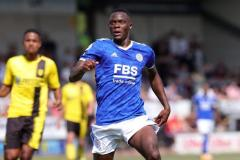 Patson Daka playing for Leicester in pre-season versus QPR