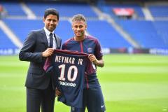 PSG president Nasser Al-Khelaifi and Neymar, 2020-21