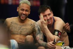 Lionel Messi and Neymar, Copa America final 2021