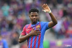 Ansu Fati makes his return from injury for Barcelona