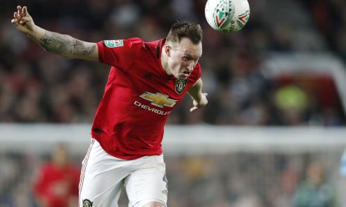 Phil Jones playing for Manchester United in January 2020