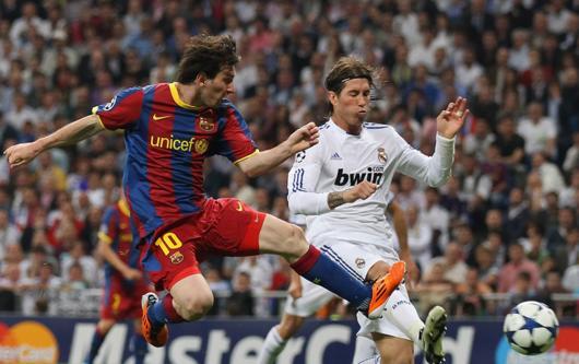 Real Madrid v Barcelona, Clasico, Lionel Messi, Sergio Ramos