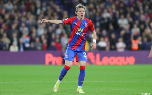 Conor Gallagher playing for Crystal Palace on loan from Chelsea