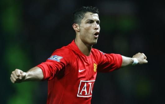 Manchester United forward Cristiano Ronaldo