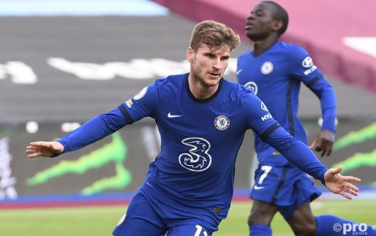 Timo Werner has six goals in 31 Premier League games