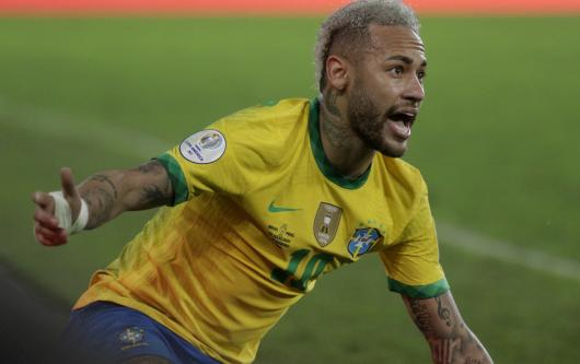 PSG attacker Neymar was named as joint Player of the Tournament at the 2021 Copa America along with Barcelona's Lionel Messi.