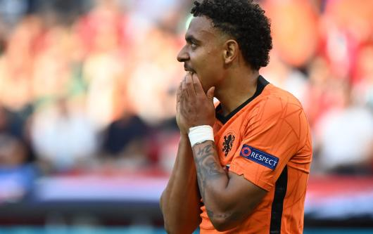 Donyell Malen in action for Netherlands at Euro 2020