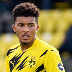 Jadon Sancho playing for Dortmund as links to Man Utd continue