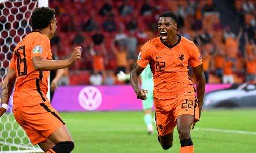 Denzel Dumfries scores for Netherlands v Austria at Euro 2020