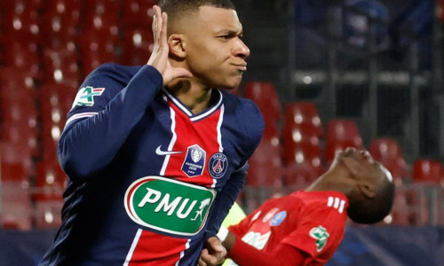 Kylian Mbappe has blown hot and cold for PSG this season.