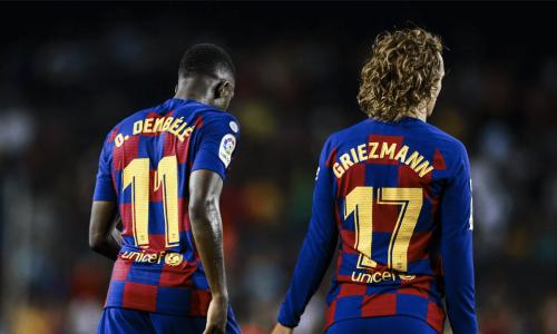 Ousmane Dembele and Antoine Griezmann have both struggled at Barcelona