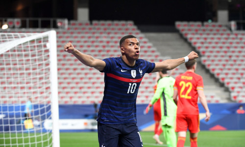 Kylian Mbappe scores for France ahead of Euro 2020, 2021