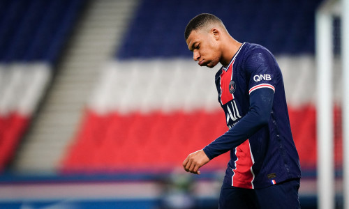 Real Madrid transfer target Kylian Mbappe playing for PSG in Ligue 1, 2020/21