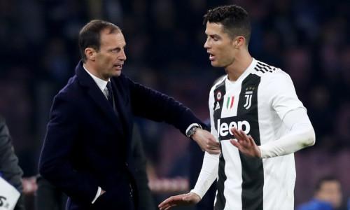 Max Allegri and Cristiano Ronaldo, Juventus