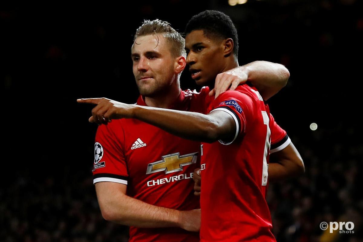 Luke Shaw, Marcus Rashford Manchester United 2017/18