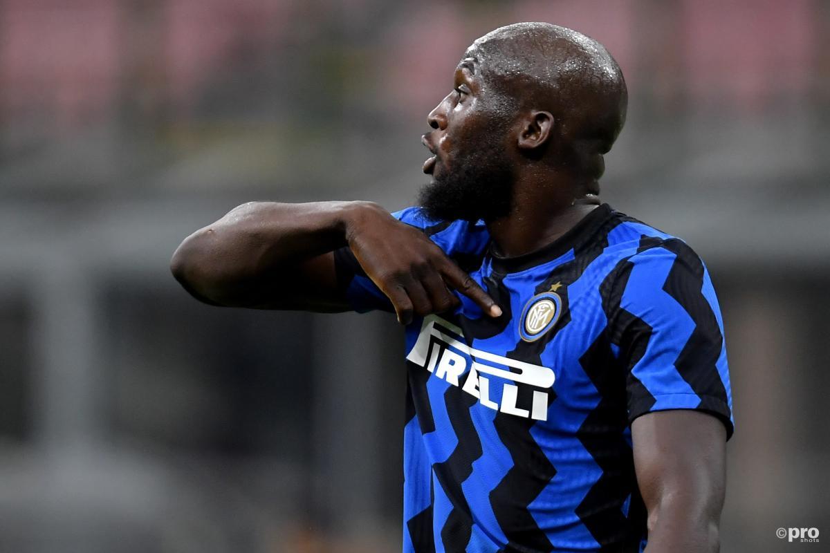 Chelsea signing Romelu Lukaku playing for Inter