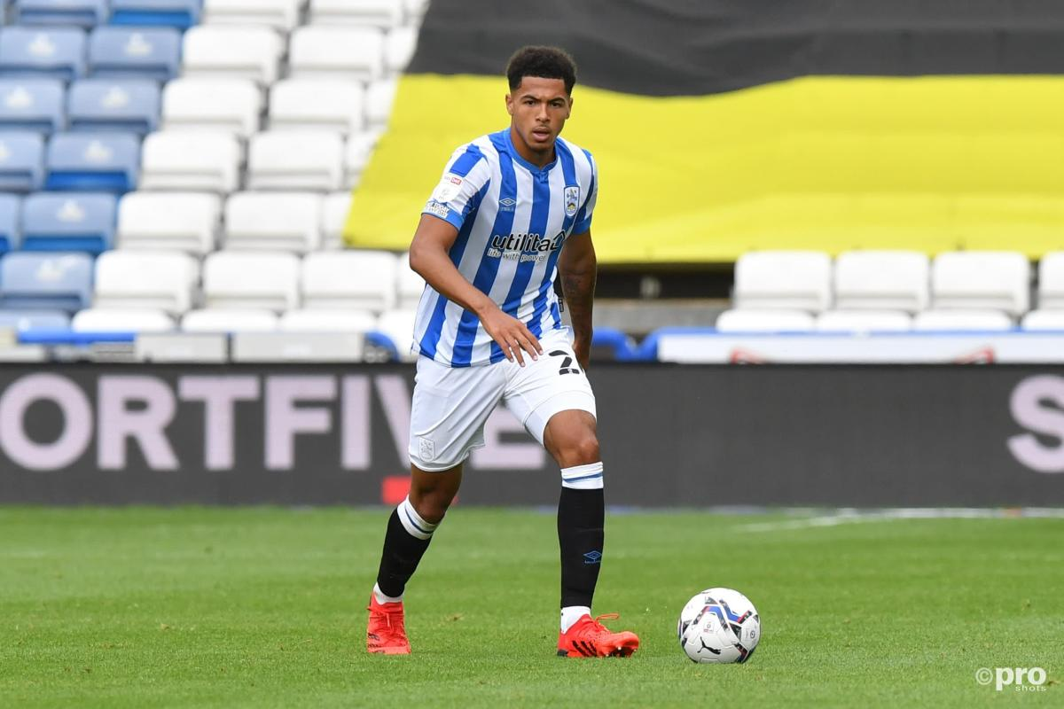 Levi Colwill playing for Huddersfield Town on loan from Chelsea