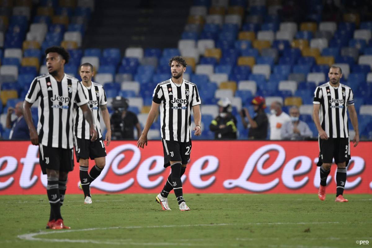 Juventus players dejected as they lose 2-1 to Napoli in Serie A