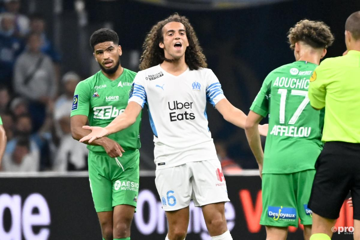 Former Arsenal star Matteo Guendouzi playing for Marseille