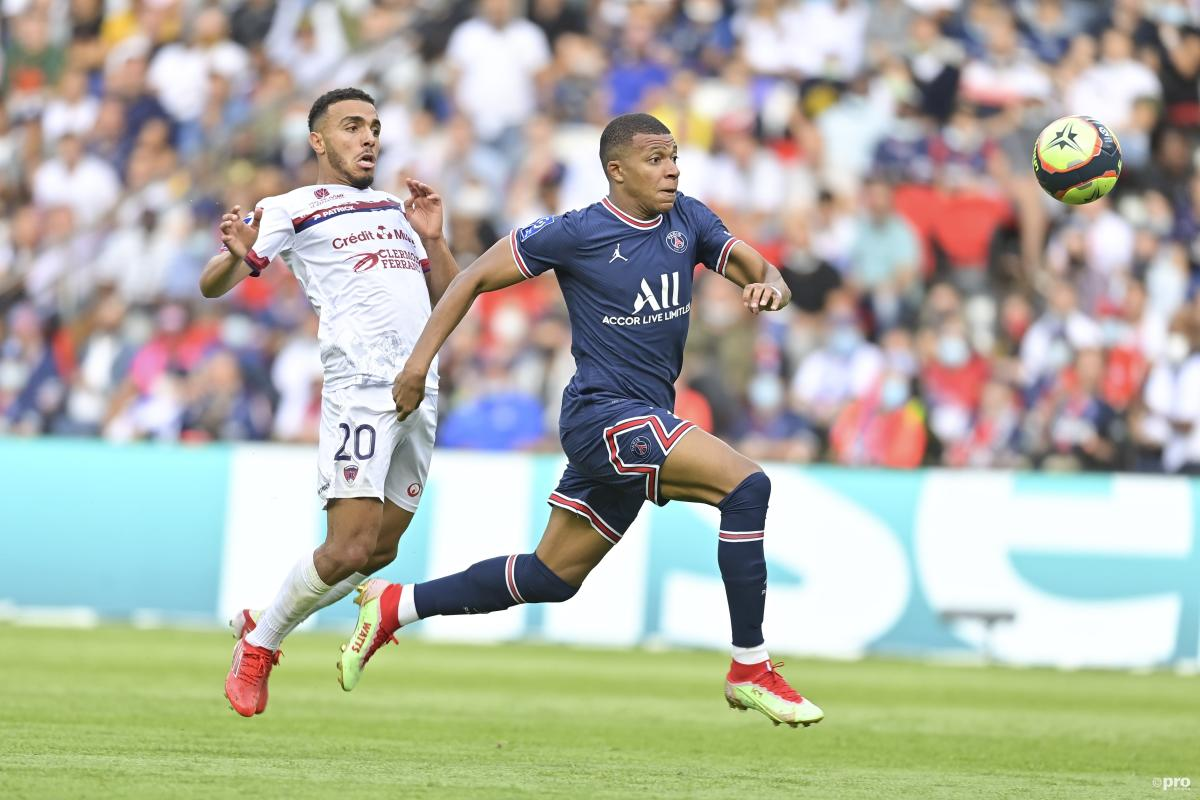 Real Madrid target Kylian Mbappe playing for PSG in Ligue 1