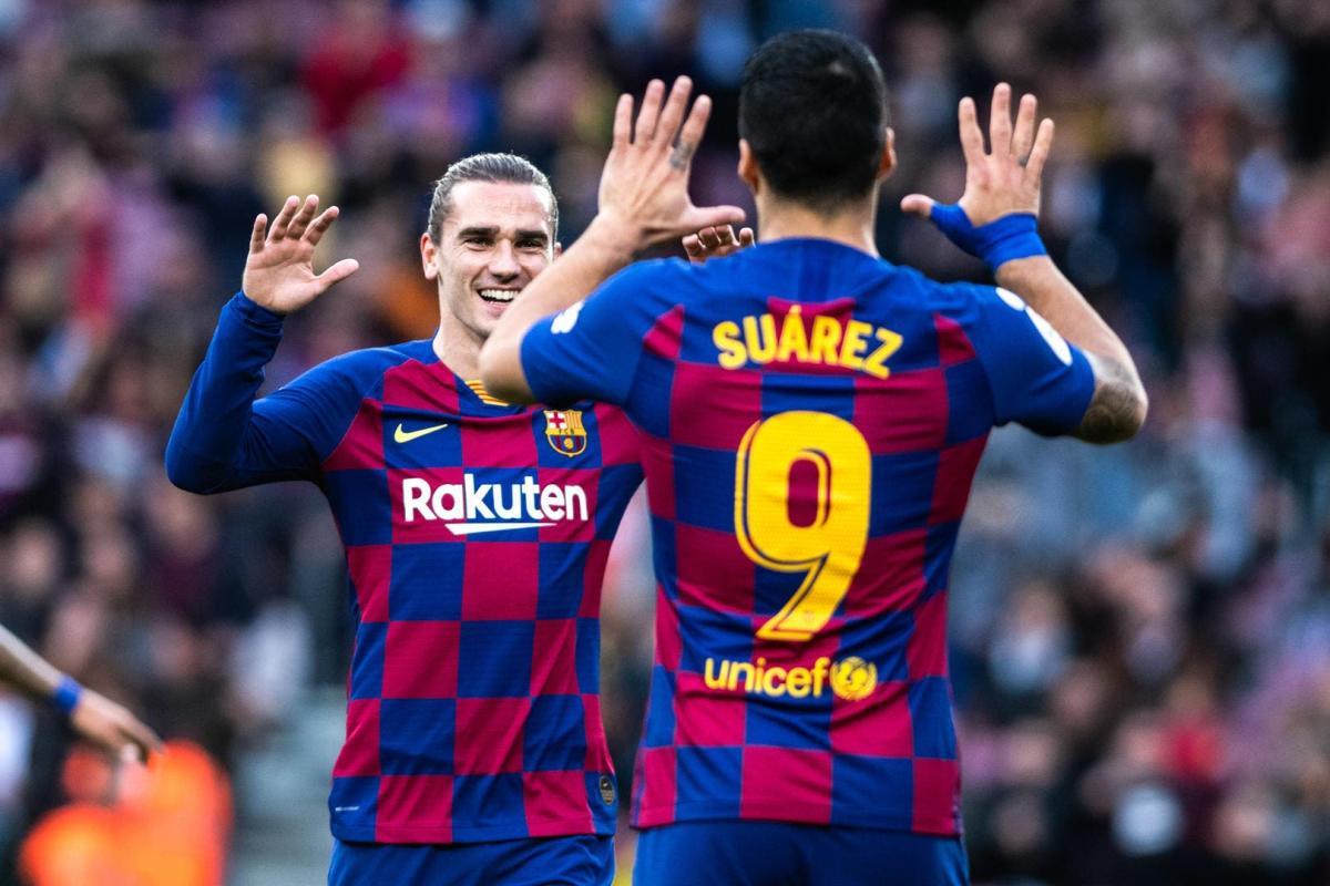 Antoine Griezmann and Luis Suarez at Barcelona