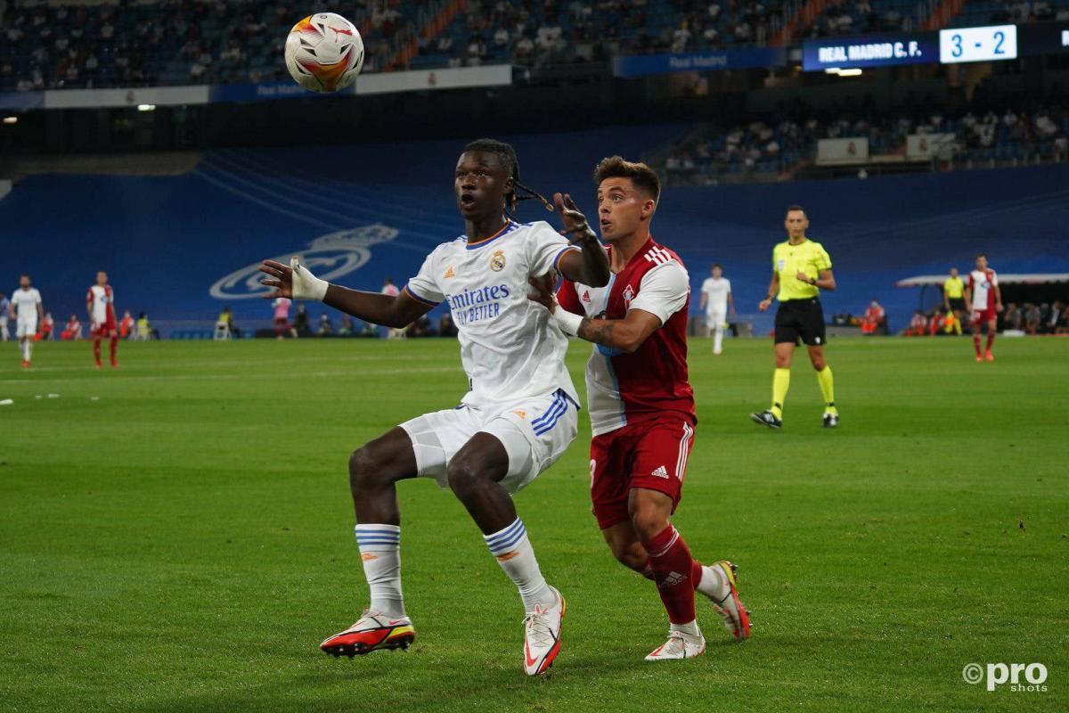 Eduardo Camavinga scored on his Real Madrid debut v Celta Vigo