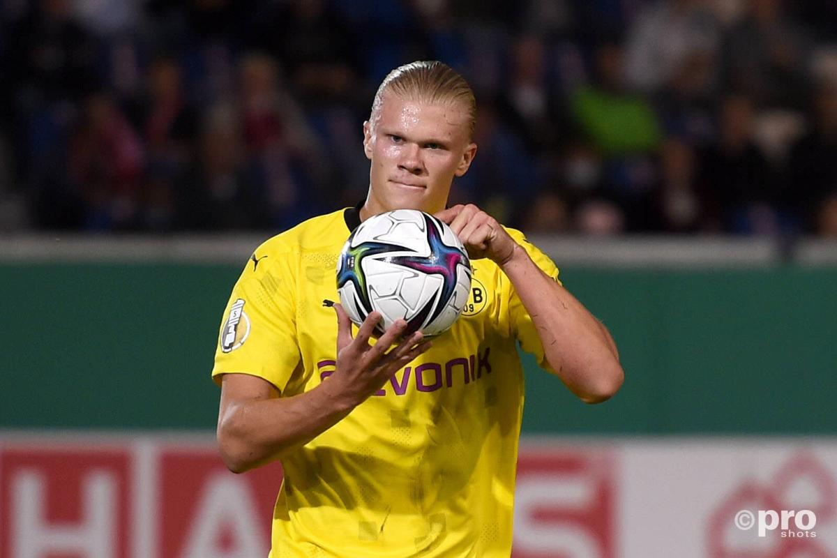 Erling Haaland celebrates hat-trick in DFB-Pokal first round