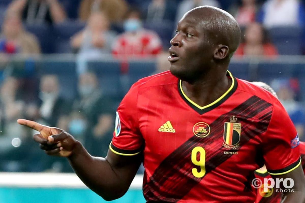 Romelu Lukaku scores for Belgium at Euro 2020