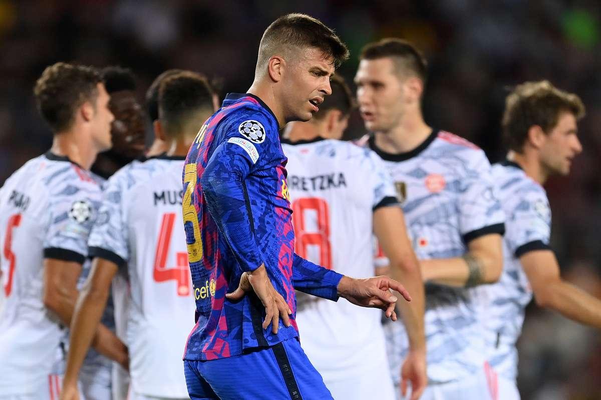 Gerard Pique, Barcelona, Bayern Munich, Champions League, 2021/22