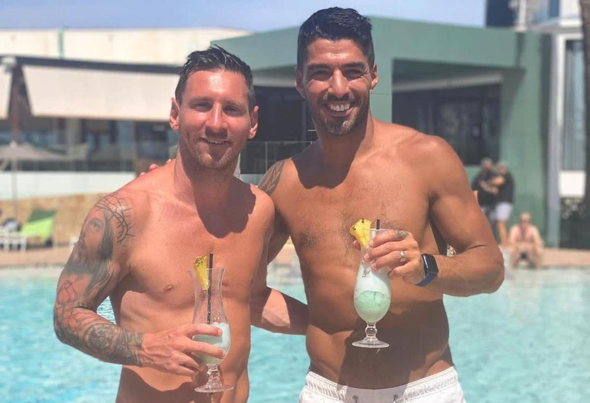 Barcelona icon Lionel Messi on holiday with Atletico Madrid striker Luis Suarez in Ibiza