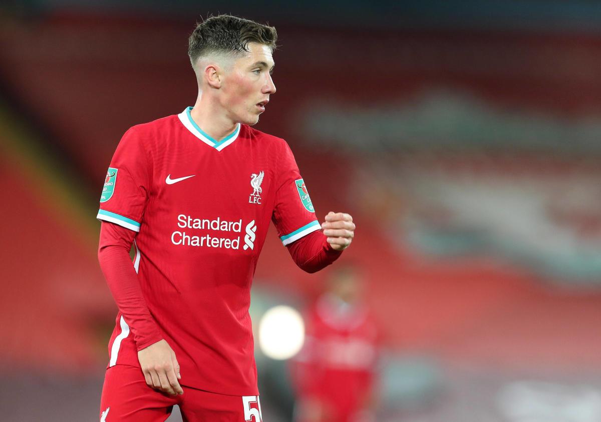 Liverpool forward Harry Wilson