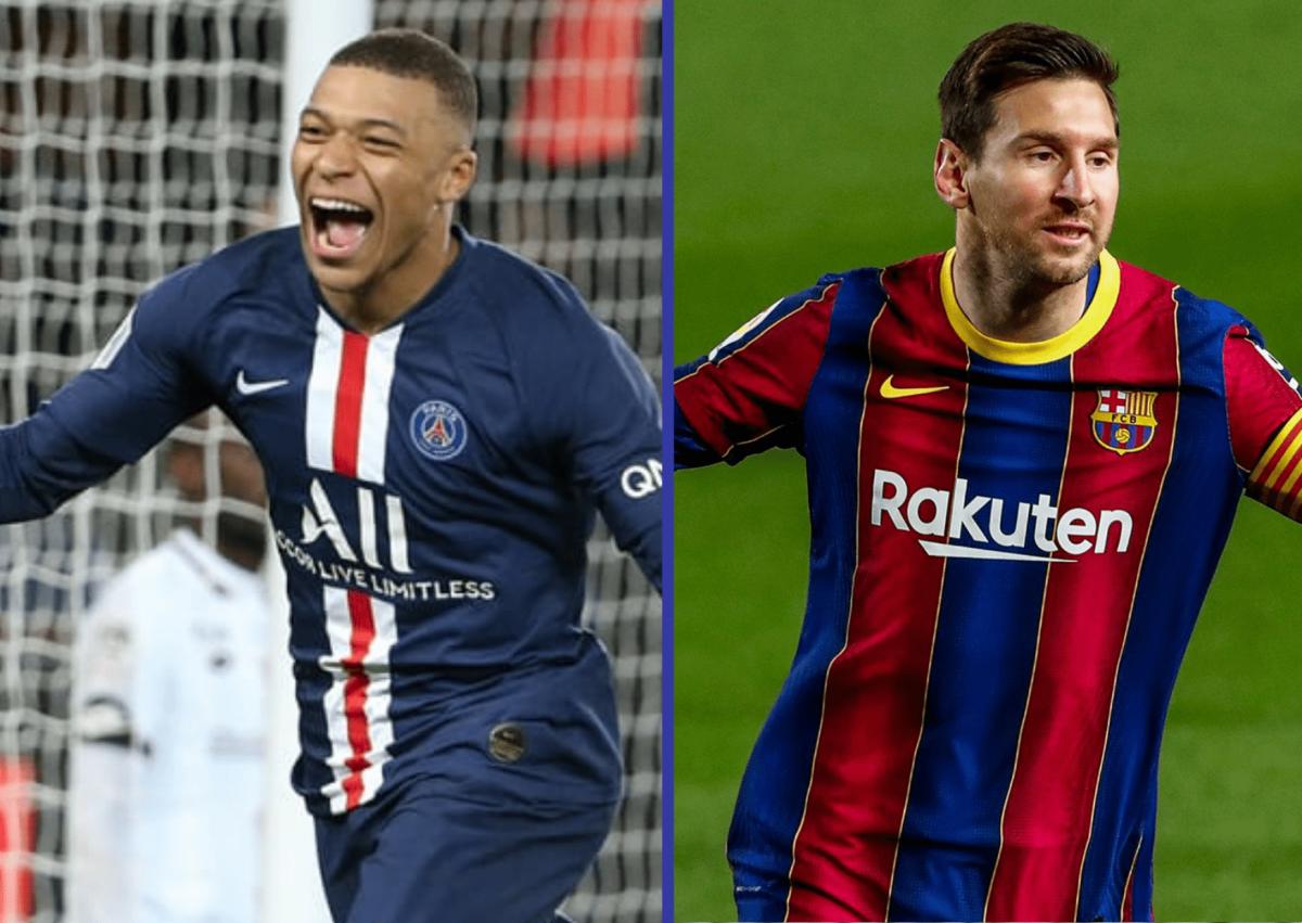Lionel Messi v Kylian Mbappe