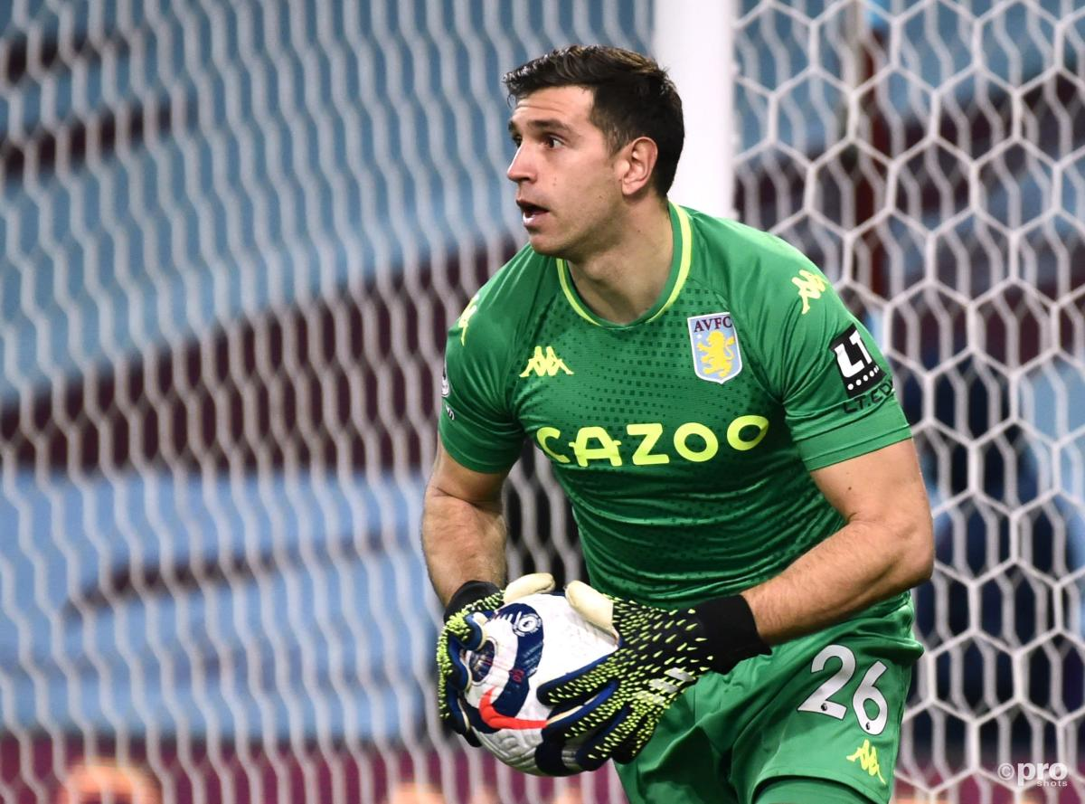Argentina goalkeeper Emiliano Martinez playing in the Premier League for Aston Villa