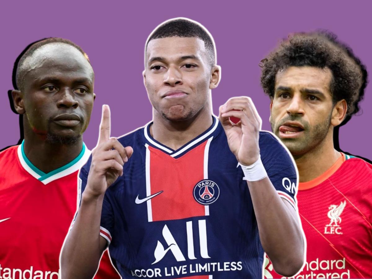 Sadio Mane, Kylian Mbappe and Mohamed Salah