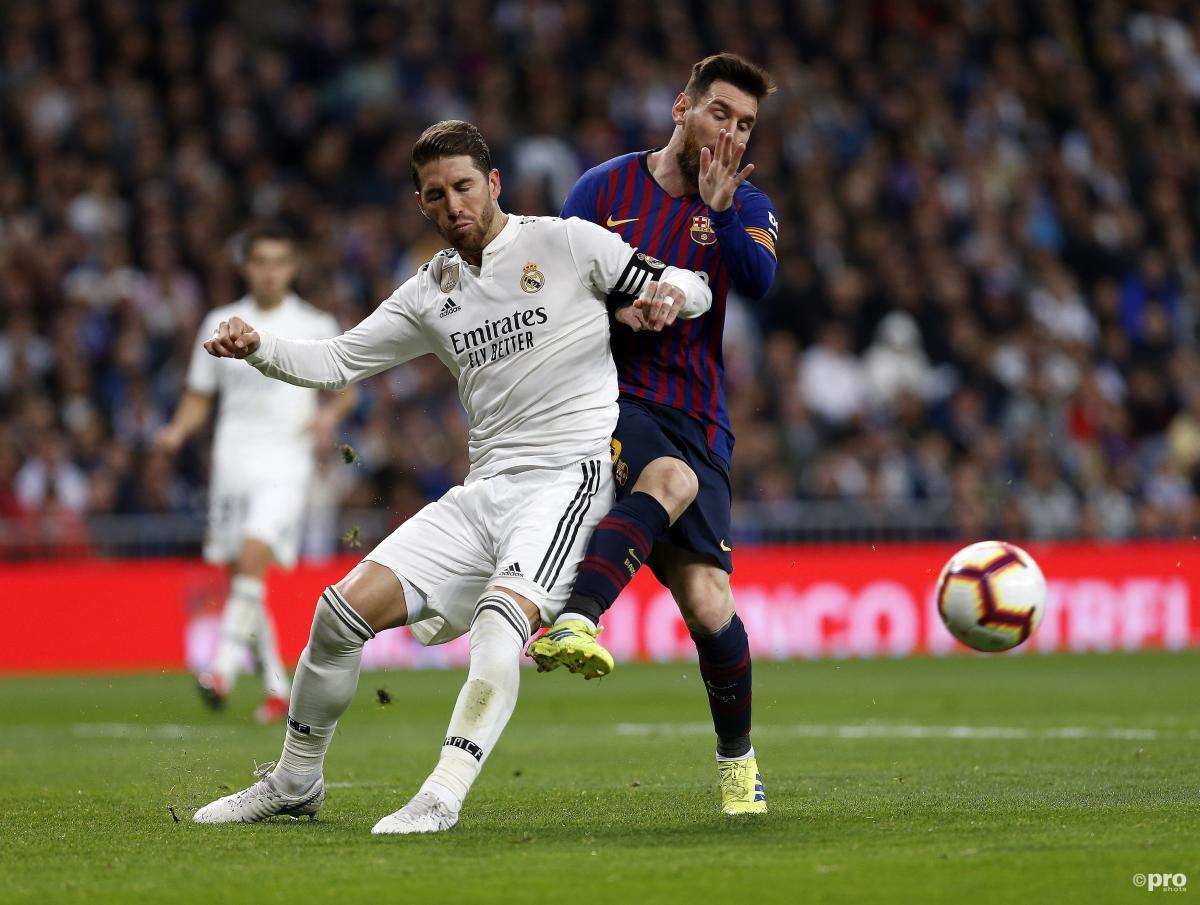Sergio Ramos and Lionel Messi, the Clasico