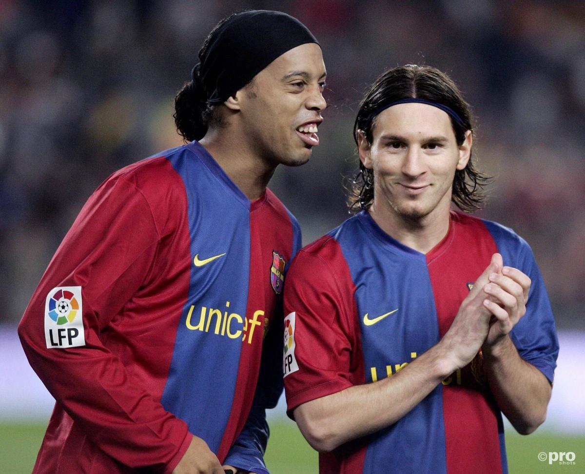Ronaldinho and Lionel Messi at Barcelona, 2006-07