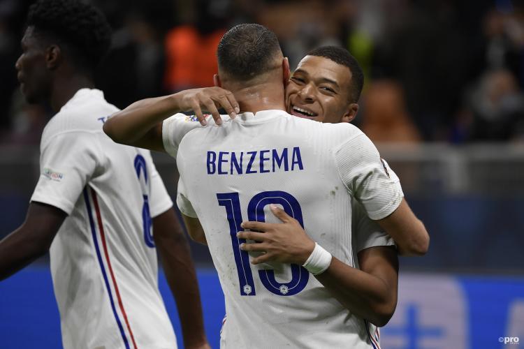 Karim Benzema and Kylian Mbappe, France, UEFA Nations League