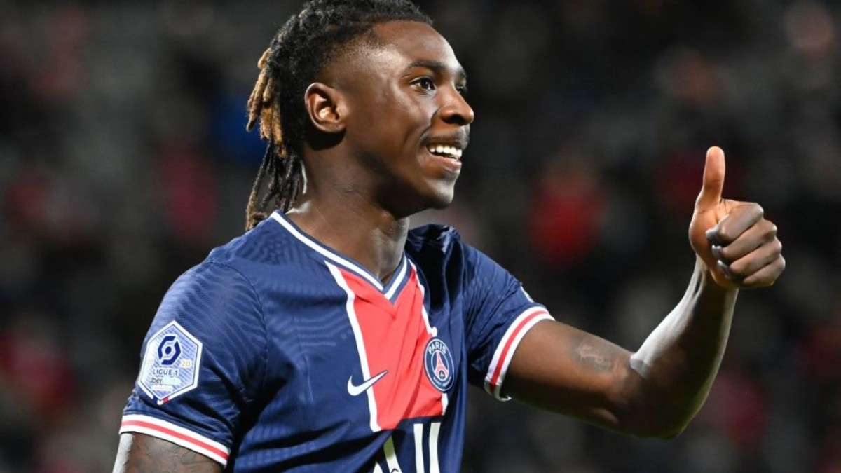 Moise Kean future unclear as Everton loanee helps PSG to Champions League semi