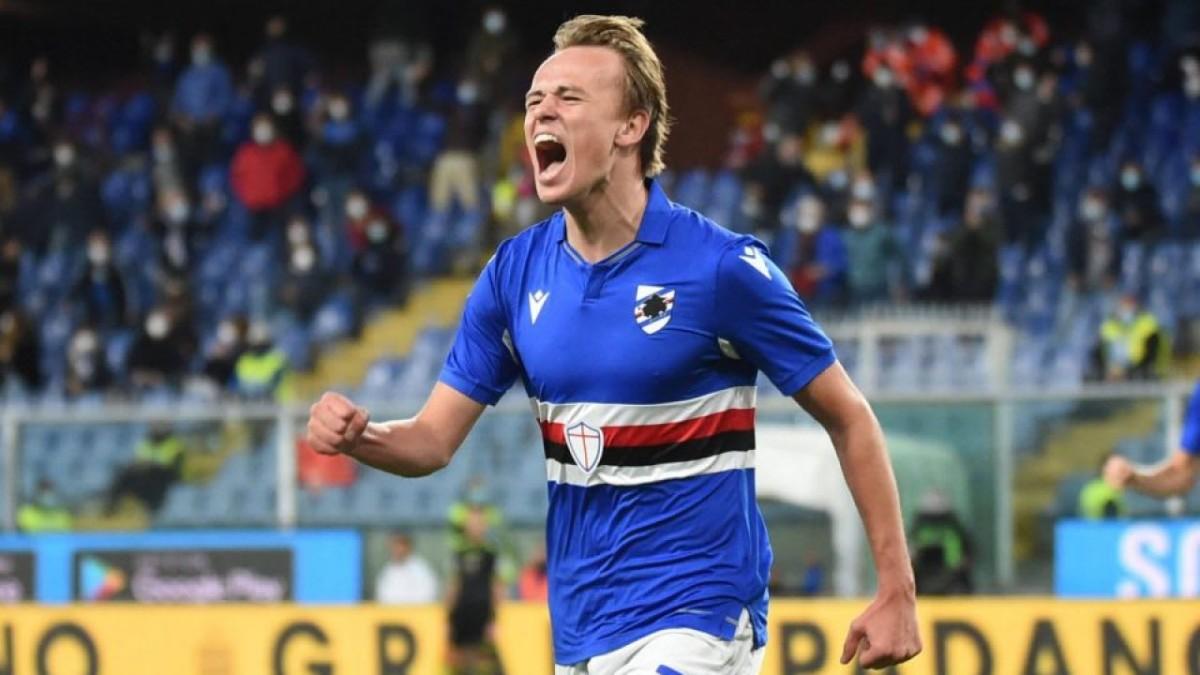 Juventus and Tottenham target Mikkel Damsgaard likely to stay at Sampdoria