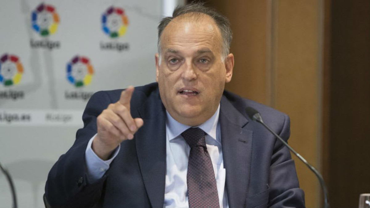 La Liga president Tebas suggests Barcelona, Real Madrid, and Atletico will not be punished for Super League