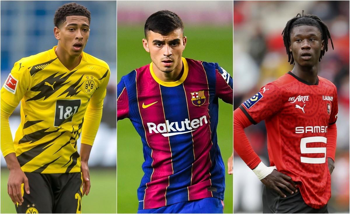 Golden boy contenders: Jude Bellingham, Pedri and Eduardo Camavinga