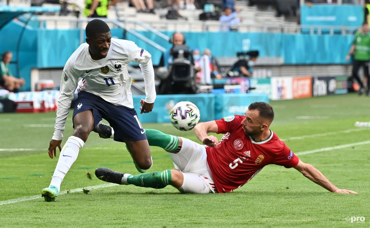 Barcelona's Ousmane Dembele picked up an injury playing for France against Hungary at Euro 2020.