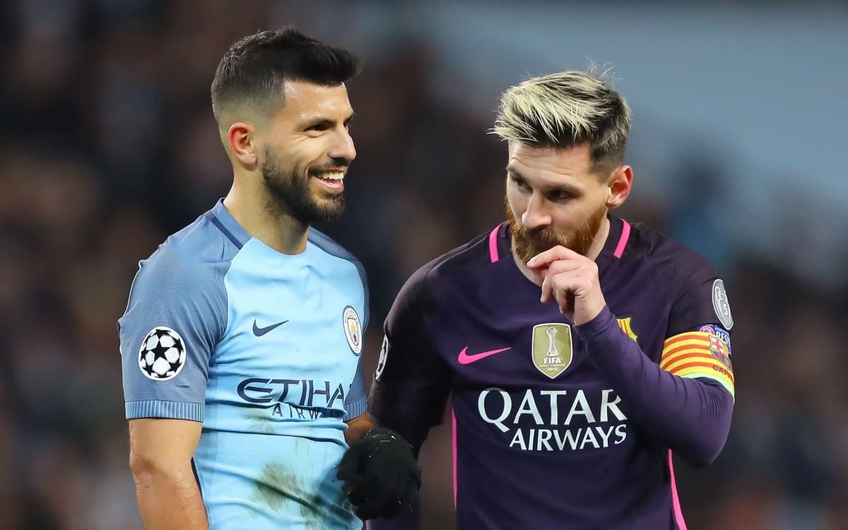 Luis Suarez comments on Barcelona's decision to partner Sergio Aguero and Lionel Messi