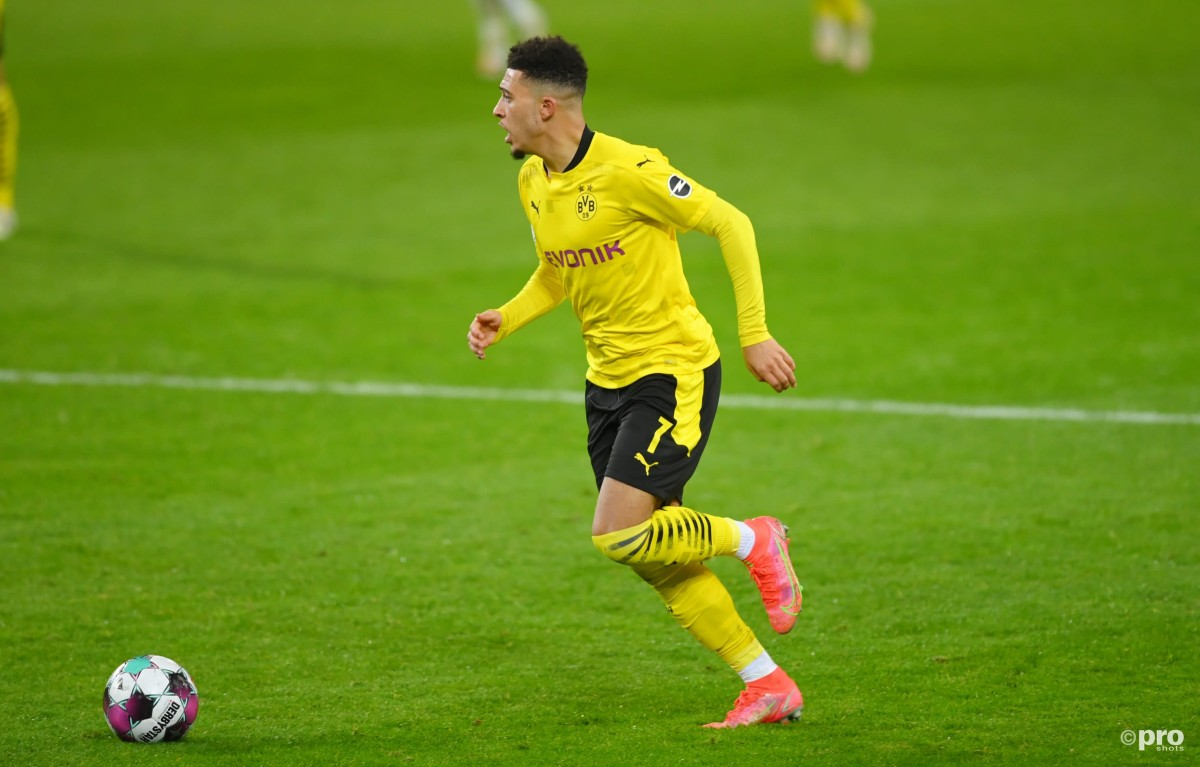 Jadon Sancho for Borussia Dortmund v Borussia Monchengladbach in the Bundesligs