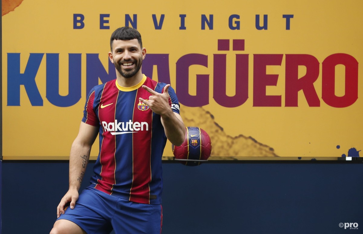 Aguero drops Messi stay hint during Barcelona presentation