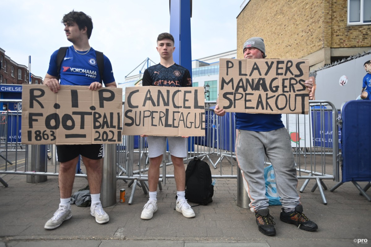 'Come on Roman, do the right thing' – Chelsea fans protest against the Super League