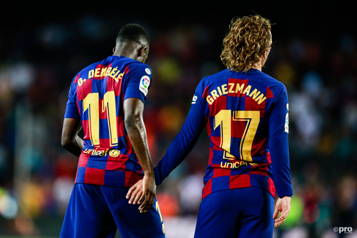Barcelona sponsors Rakuten are set to put Barcelona under pressure over the social media actions of Ousmane Dembele and Antoine Griezmann